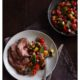 Butterflied lamb leg with ratatouille